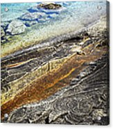 Rocks And Clear Water Abstract Acrylic Print by Elena Elisseeva