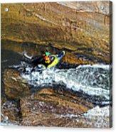 Rocks And Rapids Acrylic Print