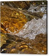 Rocks And Water Acrylic Print