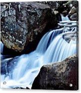 Rocks And Waterfall Acrylic Print by Adam LeCroy