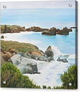 Rocks And Waves - California Coast Acrylic Print