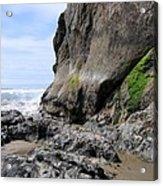 Rocks At Arcadia Beach Acrylic Print