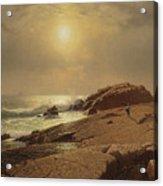 Rocks At Narragansett Acrylic Print