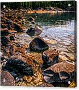 Rocks At Shore Of Georgian Bay Acrylic Print