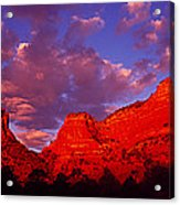 Rocks At Sunset Sedona Az Usa Acrylic Print