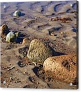 Rocks In A Row Acrylic Print