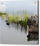 Rocks In Lake Acrylic Print