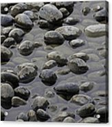 Rocks In Shallow Water Acrylic Print