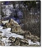 Rocks In Snow Acrylic Print