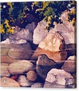 Rocks In Stream Acrylic Print