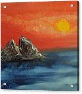 Rocks In The Flathead Lake Acrylic Print