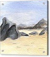Rocks On Beach Acrylic Print