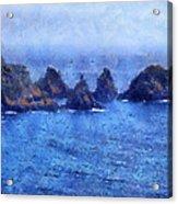 Rocks On Isle Of Guernsey Acrylic Print