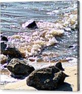 Rocks On The Bay Acrylic Print
