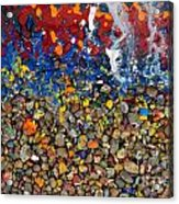 Rocks Splattered With Paint Acrylic Print by Amy Cicconi