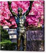 Rocky Among The Cherry Blossoms Acrylic Print