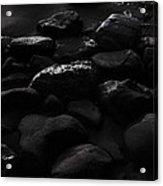 Rocky Beach At Night Acrylic Print by Viktor Savchenko