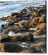 Rocky Beach At Sunrise Acrylic Print