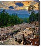 Rocky Branch Sunset Acrylic Print