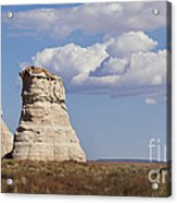 Rocky Buttes Protrude From The Middle Of Arizona Landscape Acrylic Print