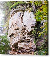 Rocky Cliff Wildcat Den Muscatine Ia 1 Acrylic Print
