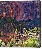 Rocky Cliff - Zion Acrylic Print