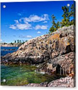 Rocky Coast And Clear Water Of Lake Superior Acrylic Print