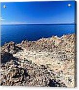 rocky coast in San Pietro island Acrylic Print