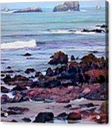 Rocky Coast Off San Simeon Acrylic Print