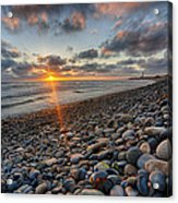 Rocky Coast Sunset Acrylic Print