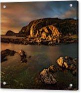 Rocky Coastline At Sunset, Point Acrylic Print