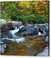 Rocky Creek Above Rocky Falls 1 Acrylic Print