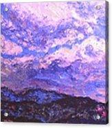 Rocky Knob Clouds Acrylic Print