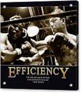 Rocky Marciano Efficiency  Acrylic Print