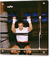Rocky Marciano Stretching Acrylic Print by Retro Images Archive