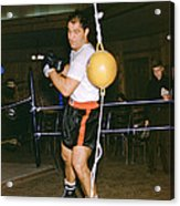 Rocky Marciano Training Hard Acrylic Print by Retro Images Archive