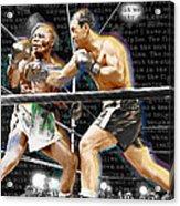 Rocky Marciano V Jersey Joe Walcott Quotes Acrylic Print