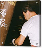 Rocky Marciano Vs. Heavy Bag Acrylic Print by Retro Images Archive