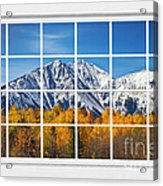 Rocky Mountain Autumn High White Picture Window Acrylic Print