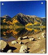 Rocky Mountain Beach Acrylic Print
