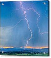Rocky Mountain Foothills Lightning Strikes 2 Hdr Acrylic Print