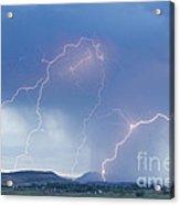 Rocky Mountain Front Range Foothills Lightning Strikes Acrylic Print