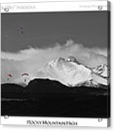 Rocky Mountain High Poster Print Acrylic Print