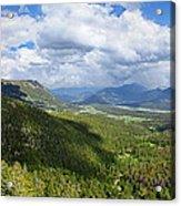 Rocky Mountain National Park Panorama Acrylic Print