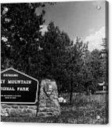 Rocky Mountain National Park Signage Acrylic Print