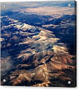 Rocky Mountain Peaks From Above Acrylic Print