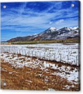 Rocky Mountain Ranch Acrylic Print