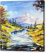 Rocky Mountain Stream Acrylic Print