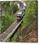 Rocky Mountaineer Railway Acrylic Print