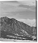 Rocky Mountains Flatirons And Longs Peak Panorama  2 Acrylic Print